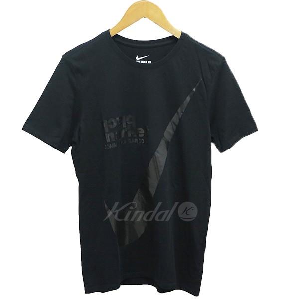【中古】black market COMME des GARCONS NIKE SPORTSAWEAR プリントクルーネックTシャツ ブラック サイズ:M 【送料無料】 【100718】(ブラックマーケット コムデギャルソン)