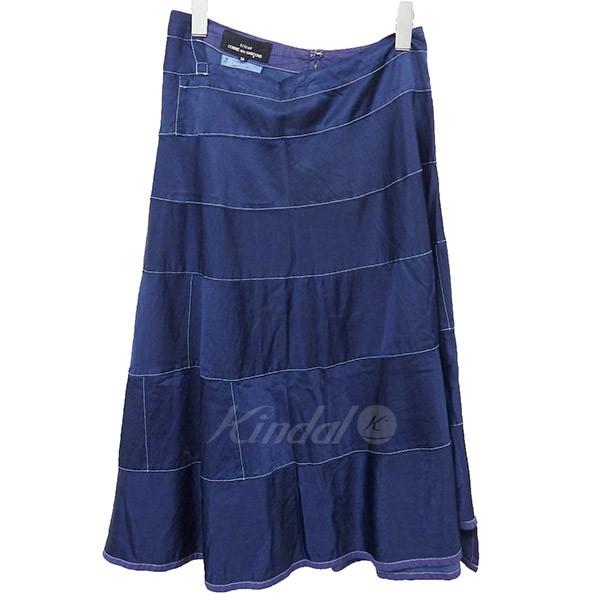 【中古】tricot COMME des GARCONS 2018SS レーヨン混 製品染めスカート 【送料無料】 【001530】 【KIND1550】