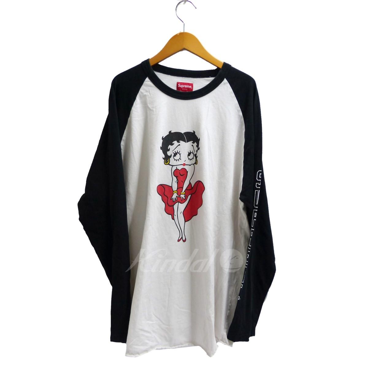【中古】SUPREME 2016SS Betty Boop Reglan ホワイト サイズ:XL 【送料無料】 【100718】(シュプリーム)