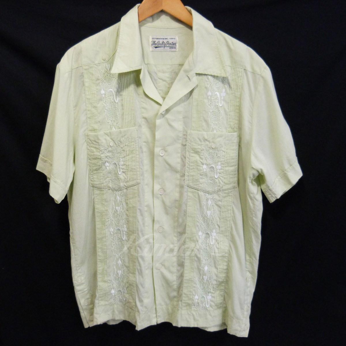 【中古】WACKO MARIA × WOLF'S HEAD キューバシャツ ペールグリーン サイズ:XL 【送料無料】 【100718】(ワコマリア×ウルフズヘッド)