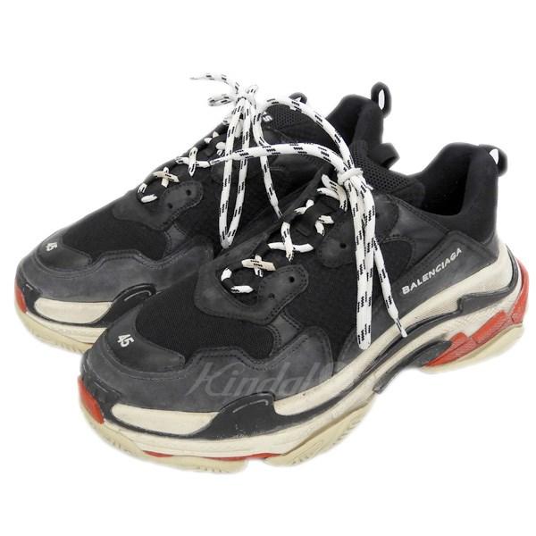 【10月1日 お値段見直しました】【中古】BALENCIAGA17AW「Triple S」スニーカー ブラック サイズ:45 【送料無料】