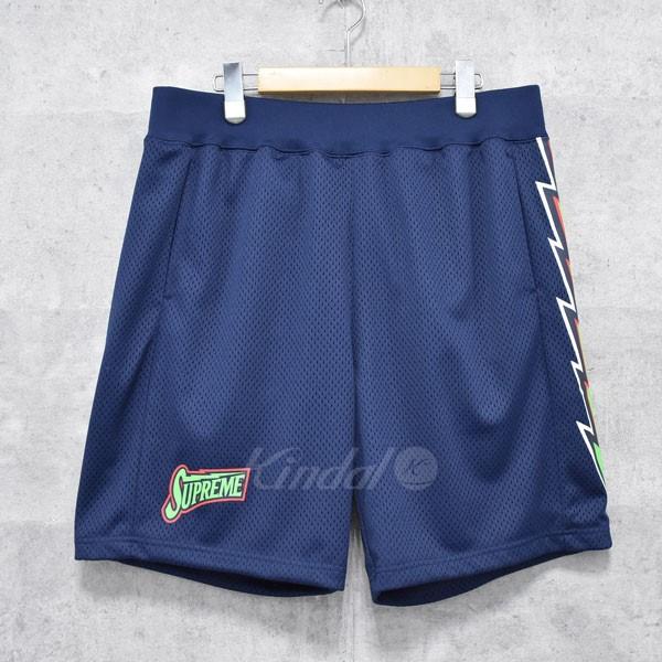 【中古】SUPREME 18SS Bolt Basketball Short メッシュショートパンツ ネイビー サイズ:M 【送料無料】 【120718】(シュプリーム)