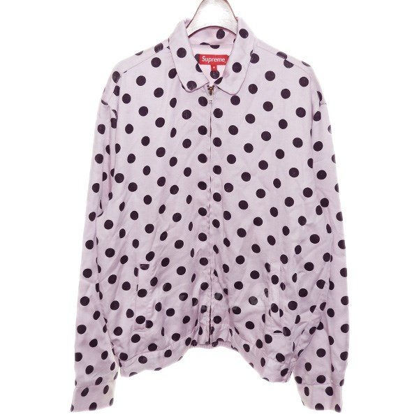 【中古】SUPREME 2018SS 「Polka Dots Rayon Work Jacket」ドットワークジャケット 【送料無料】 【100273】 【KIND1550】