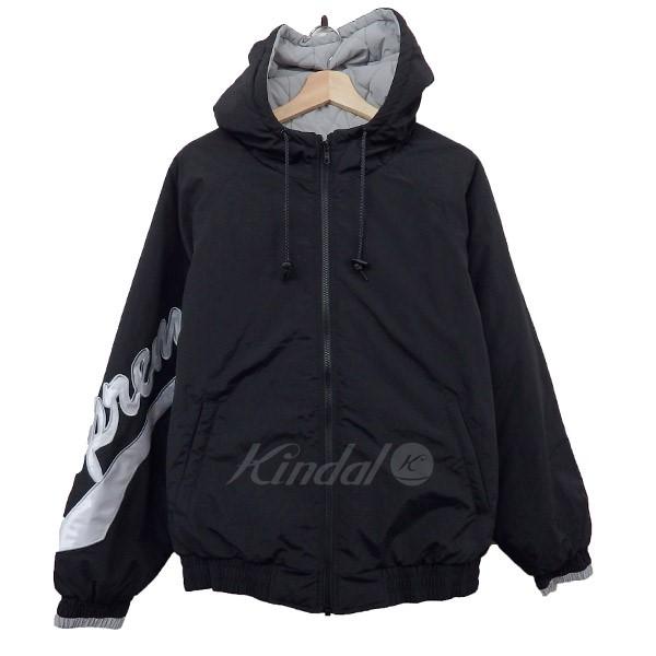 【中古】SUPREME2018SS Sleeve Script Sideline Jacket ブラック サイズ:M
