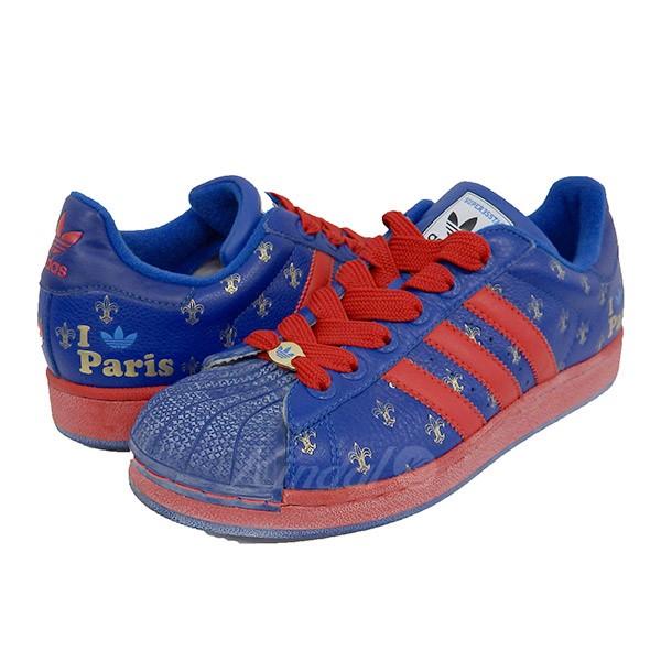 【中古】adidas SUPER STAR 35TH 24CITY PARIS スーパースター ブルー サイズ:JP265 【送料無料】 【140718】(アディダス)