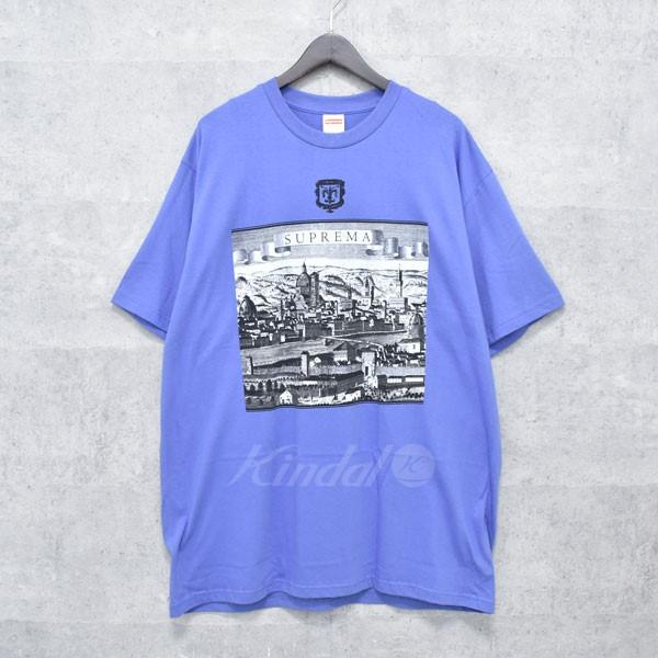 【中古】SUPREME 18SS FIORENZA TEE プリントTシャツ ブルーパープル サイズ:XL 【送料無料】 【140718】(シュプリーム)