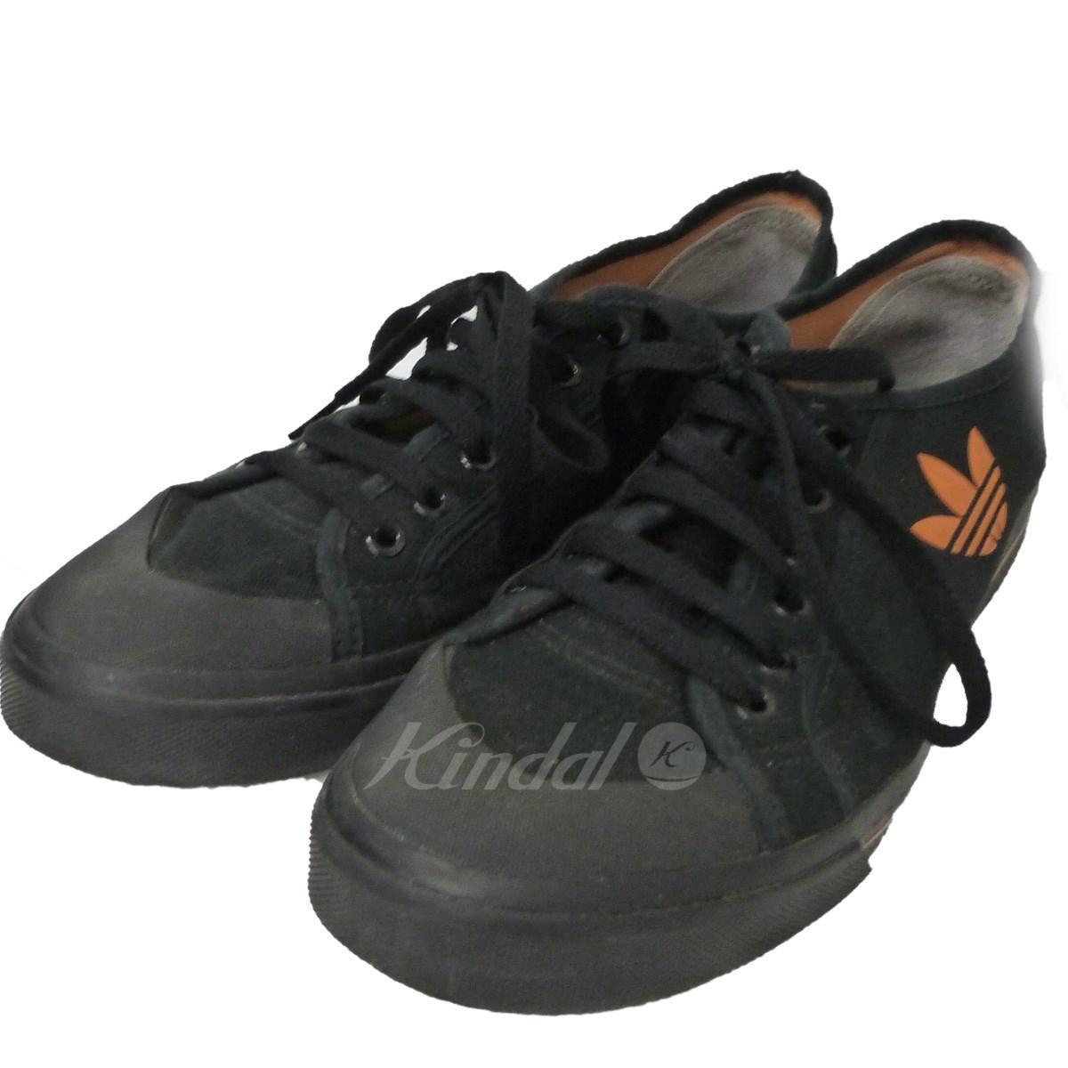 【中古】adidas by RAF SIMONS 「SPIRIT LOW」スニーカー ブラック サイズ:27.5cm 【送料無料】 【140718】(アディダスバイラフシモンズ)