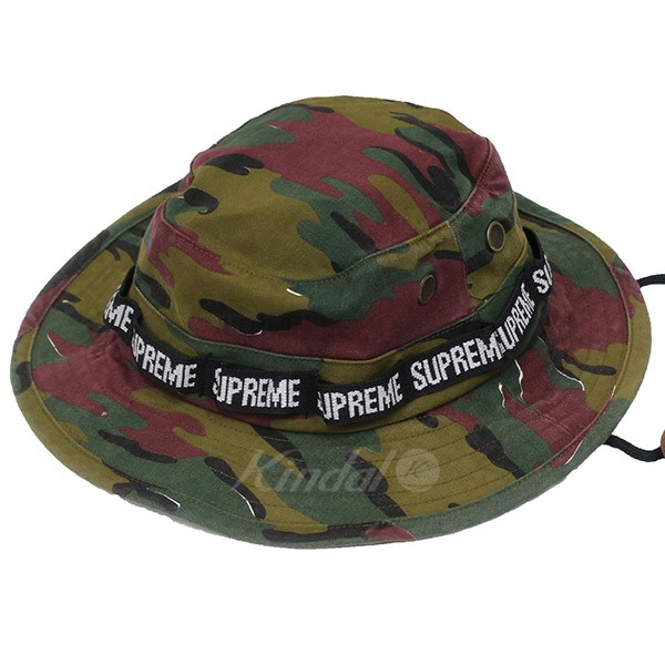 Supreme 2018SS Military Boonie Hat camouflage pail hat multicolored size   M L (シュプリーム) f4cec8b69e0