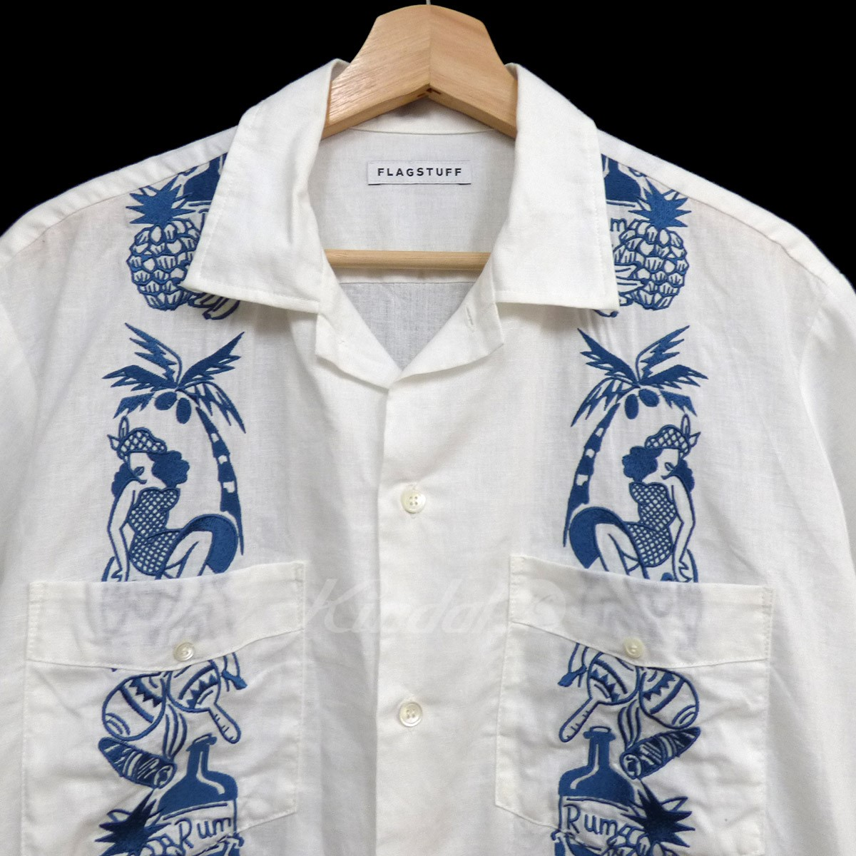 Kindal Flagstuff X Masa 17ss Scoulp Cuba Shirts Aloha Bowling