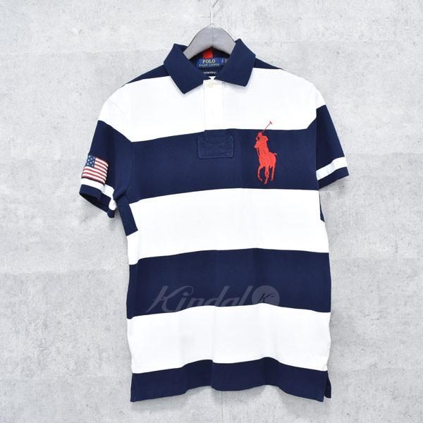 31fa9a4cd ... where can i buy polo ralph lauren big pony wide horizontal stripe short sleeved  polo shirt