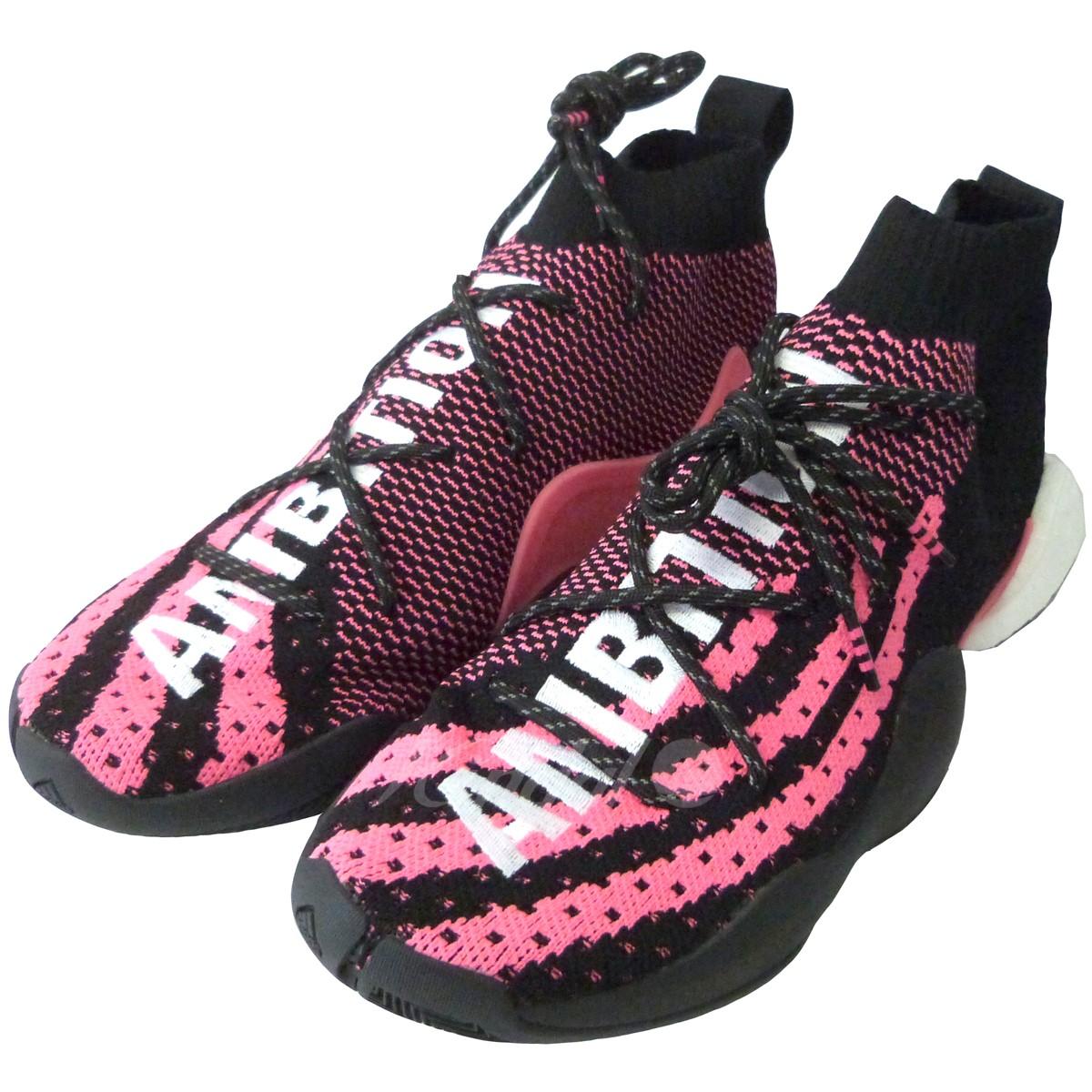 【中古】adidas originals × Pharrell Williams G28182「CRAZY BYW LVL X PW」スニーカー ブラック×ピンク サイズ:26cm 【送料無料】 【230718】(アディダス オリジナルス × ファレル ウィリアムス)