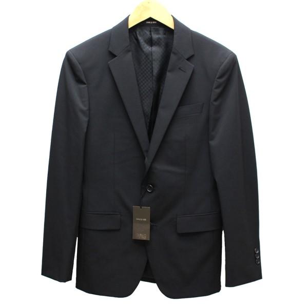 【中古】COMME CA MEN ジャケット ブラック サイズ:S 【送料無料】 【280718】(コムサメン)