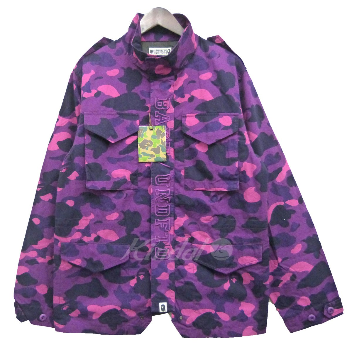 【中古】A BATHING APE×UNDEFEATED 18SS「COLOR CAMO M-65」カラーカモM-65ジャケット 【送料無料】 【094229】 【KIND1550】