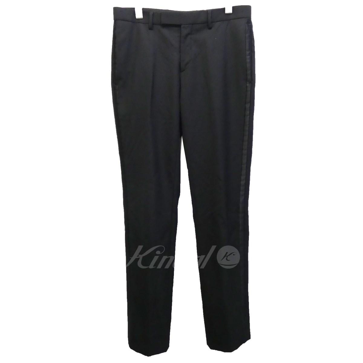 【中古】Dior Homme 09AW サイドラインスラックス ブラック サイズ:46 【送料無料】 【280718】(ディオールオム)