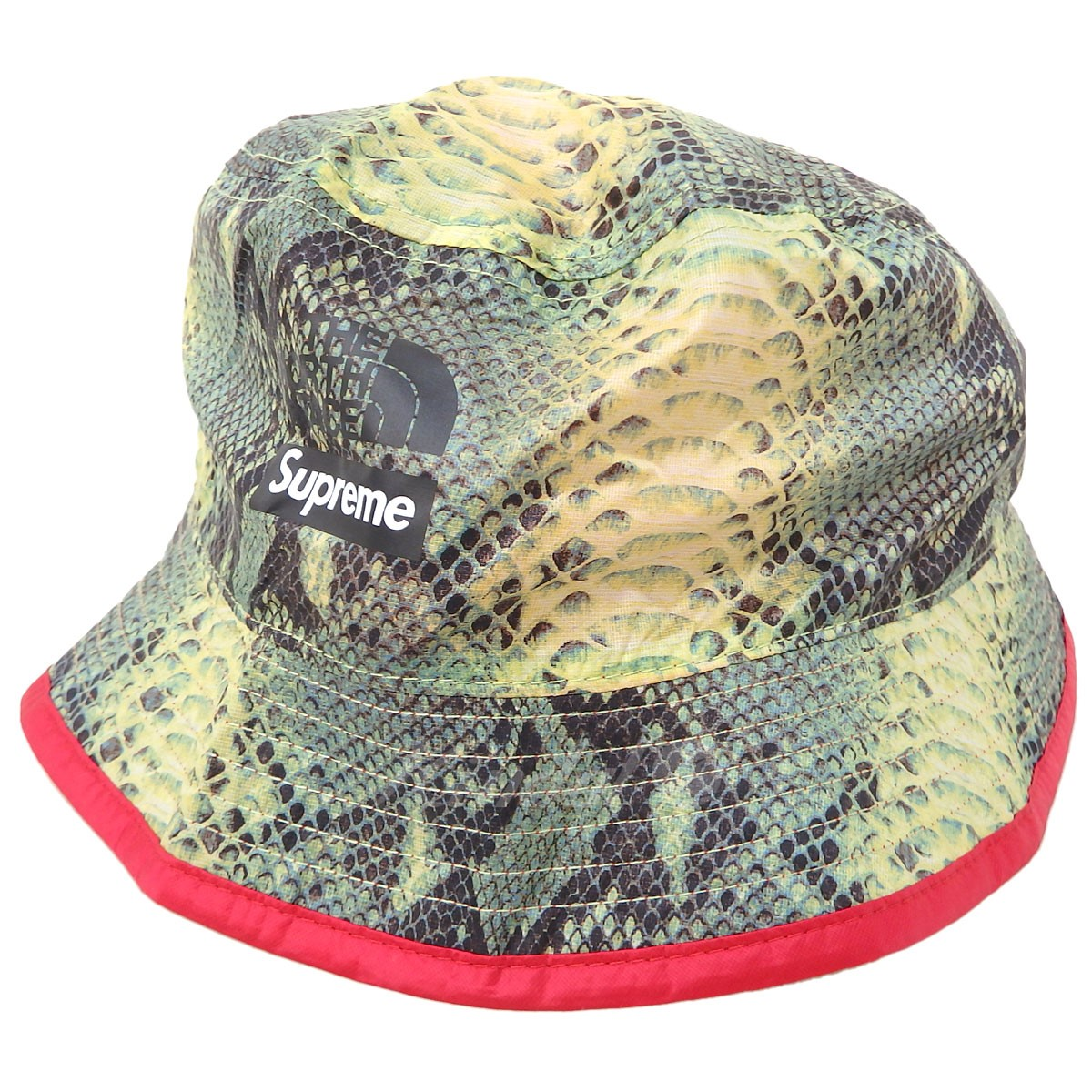 b998a5ec9a17 Supreme X THE NORTH FACE 18SS Snakeskin Packable Reversible Crusher pail hat
