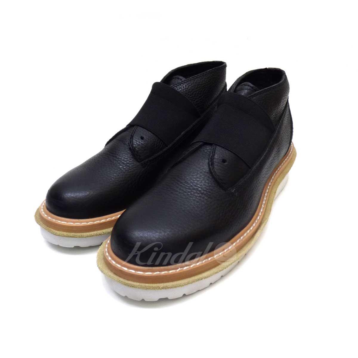 【中古】zucca デザートブーツ ブラック サイズ:L 【送料無料】 【300718】(ズッカ)