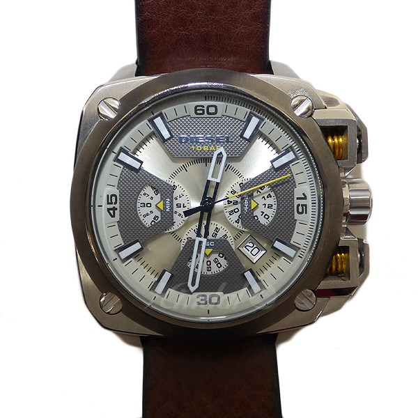 【中古】DIESEL 【DZ-7343】クォーツ腕時計 文字盤:ベージュ系 【送料無料】 【300718】(ディーゼル)