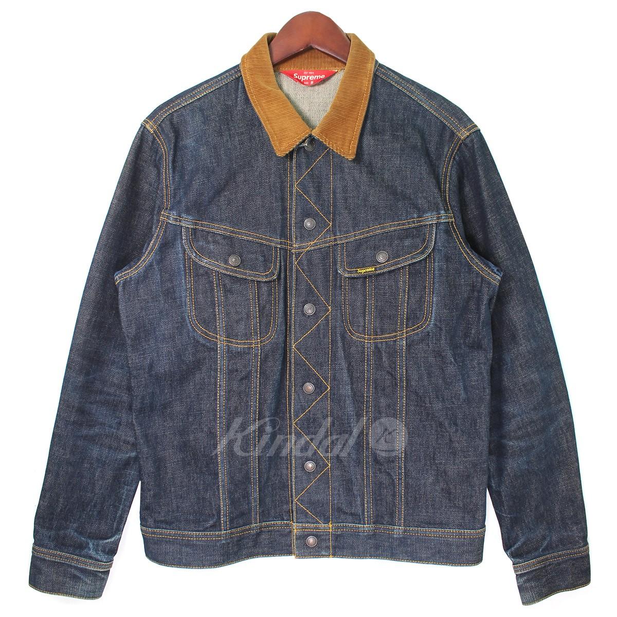 【中古】SUPREME 10AW Snap Front Denim Jacket ロゴデニムジャケット 【送料無料】 【001383】 【KIND1550】