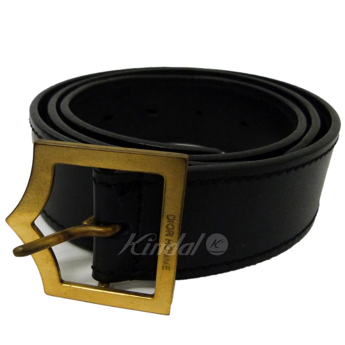 【中古】Dior Homme Dバックルベルト ブラック サイズ:90/105 【送料無料】 【300718】(ディオールオム)
