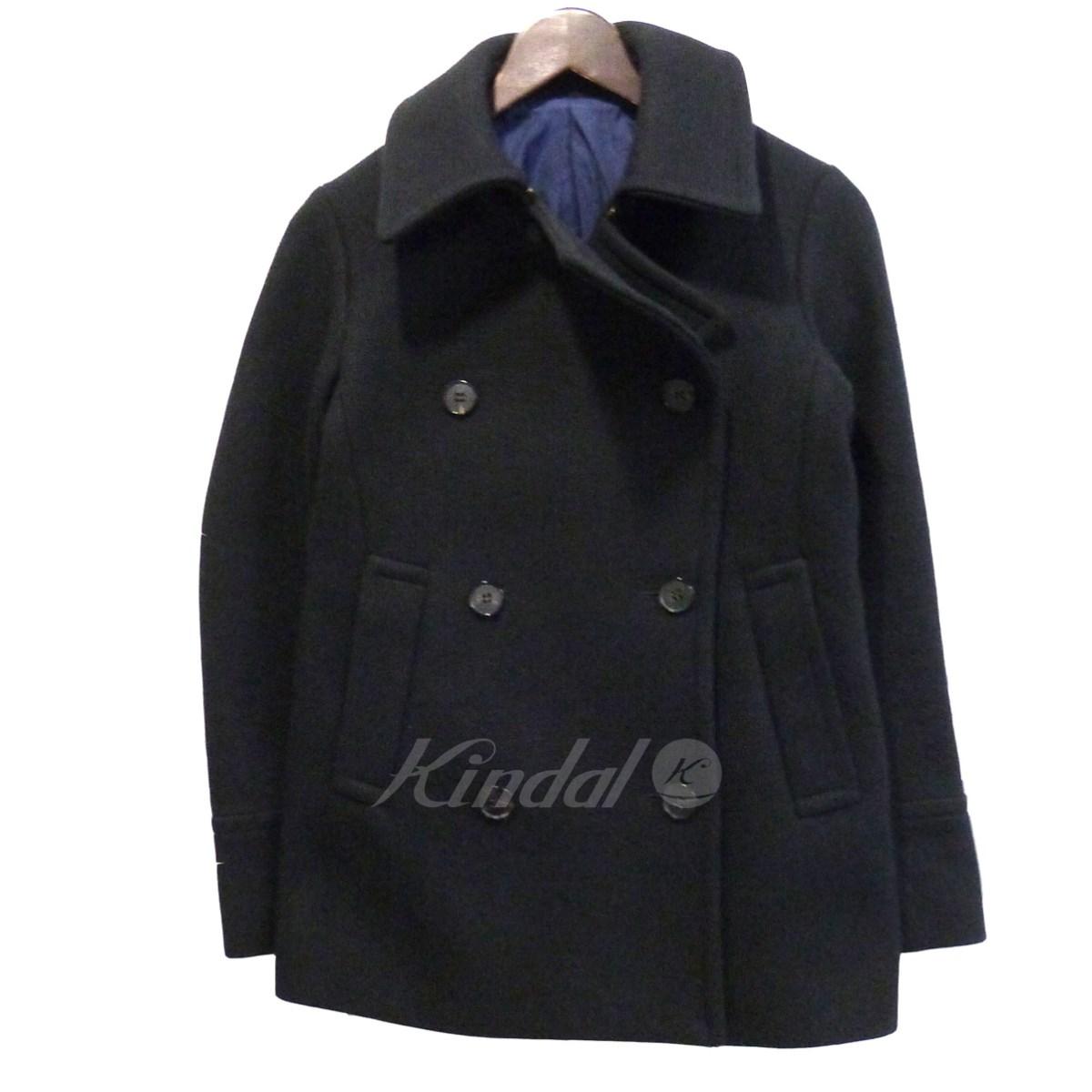 【中古】DRAWER Pコート ブラック サイズ:36 【送料無料】 【300718】(ドゥロワー)