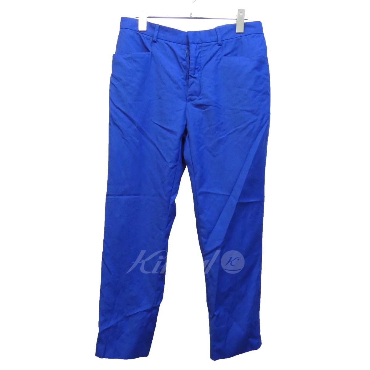 【新発売】 【中古】Martin Margiela14 14SS テーパードスラックスパンツ ブルー ブルー サイズ:46 Margiela14【300718 14SS】(マルタンマルジェラ14), BRILHAR:7f641332 --- gipsari.com