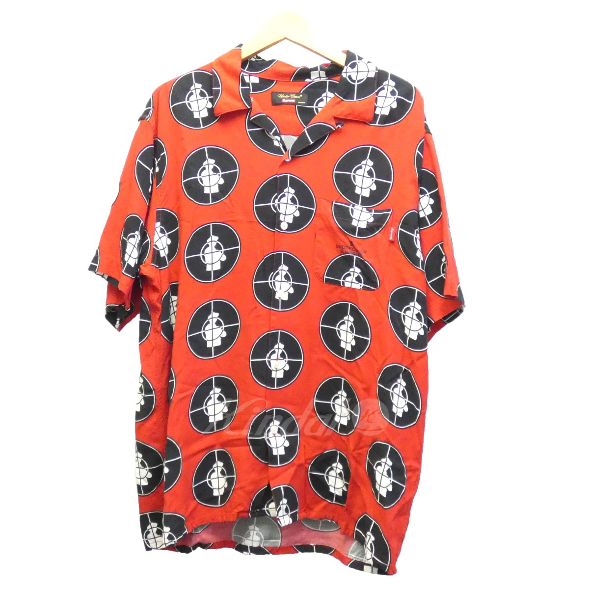 【中古】SUPREME×UNDER COVER 18SS「Public Enemy rayon shirt」半袖シャツ 【送料無料】 【081248】 【KIND1550】