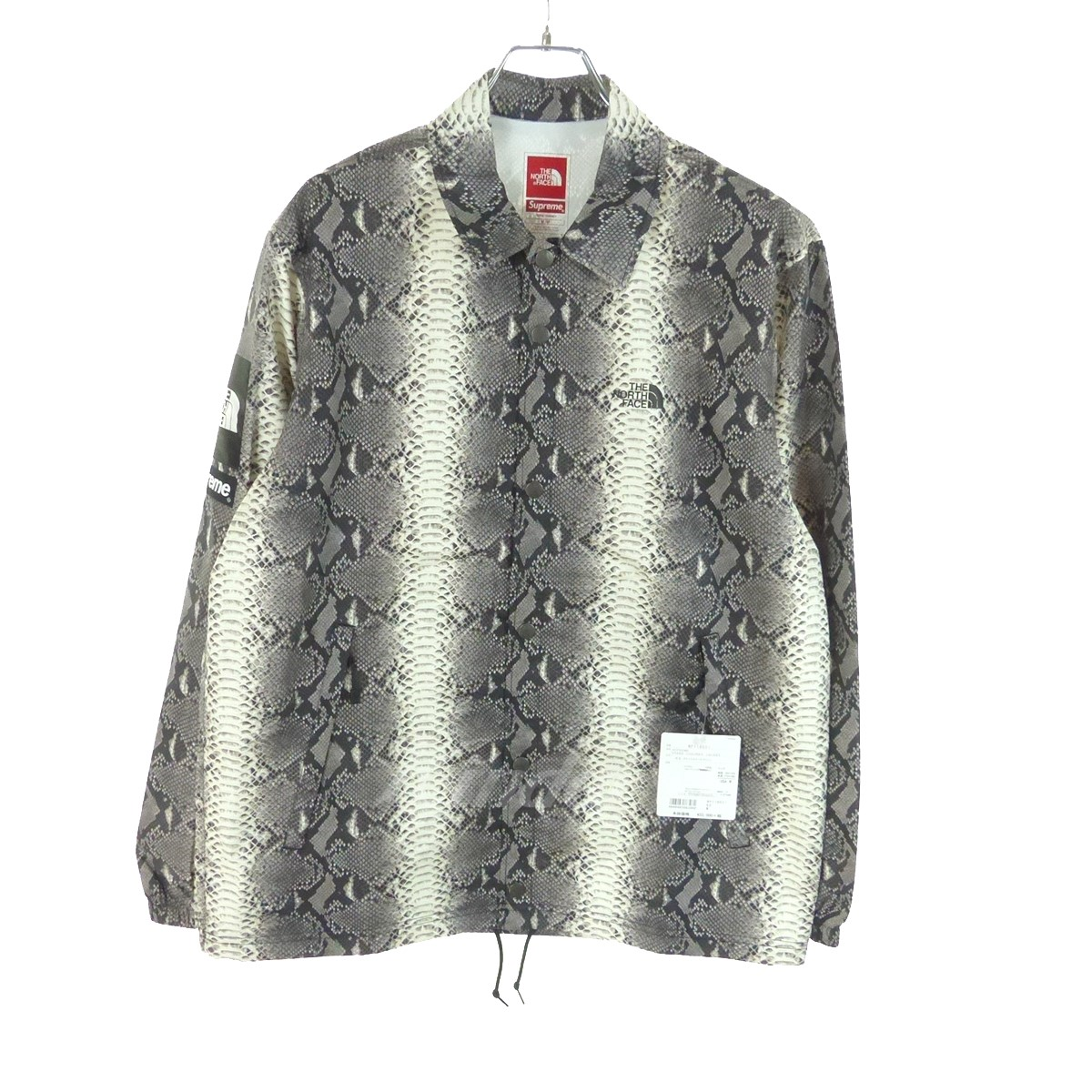 b31d3deb10ae38 SUPREME X THE NORTH FACE coach jacket 18SS Snakeskin Taped Seam Coaches  Jacket gray size  medium