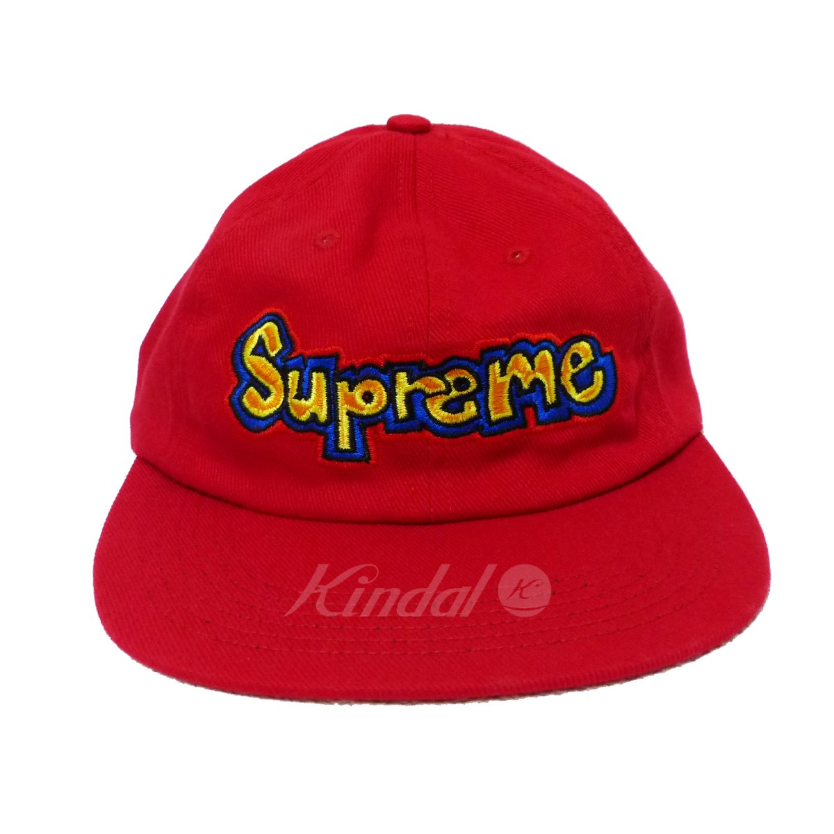 41679ffcb48 kindal  SUPREME 2018SS Gonz Logo 6-Panel Cap red size ...