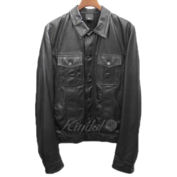 【中古】Dior Homme 2012SS レザートラッカージャケット 【送料無料】 【107401】 【KIND1550】