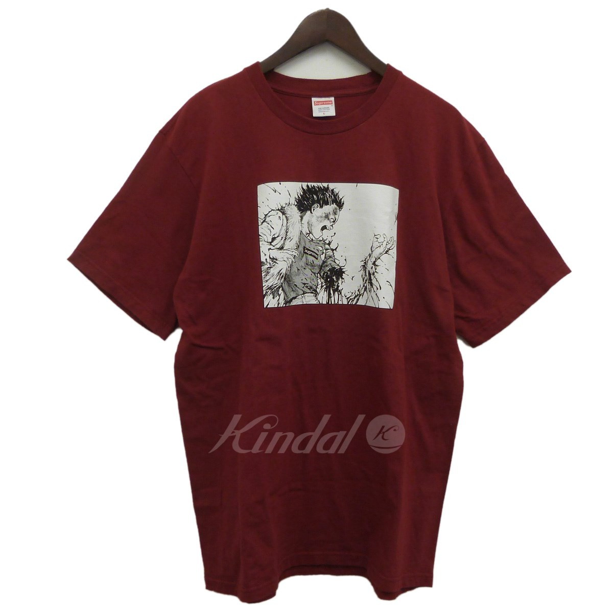 【中古】SUPREME 17AW「Akira Arm Tee」アキラプリントTシャツ ボルドー サイズ:L 【送料無料】 【040818】(シュプリーム)