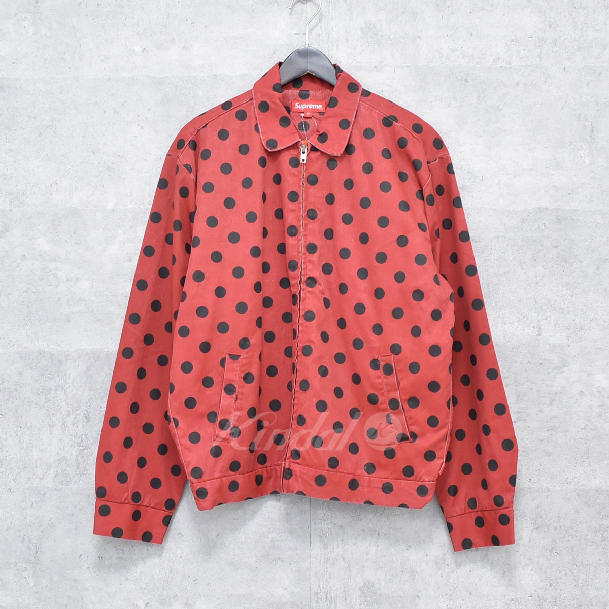 【中古】SUPREME 18SS Polka Dots Rayon Work Jacket 【送料無料】 【184543】 【KIND1550】