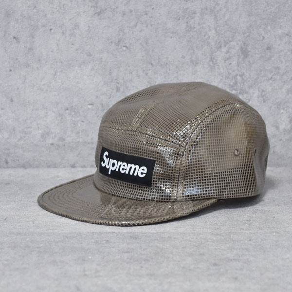 【中古】SUPREME 17AW Laminated Box Weave Camp Cap キャンプキャップ 【送料無料】 【005429】 【KIND1490】