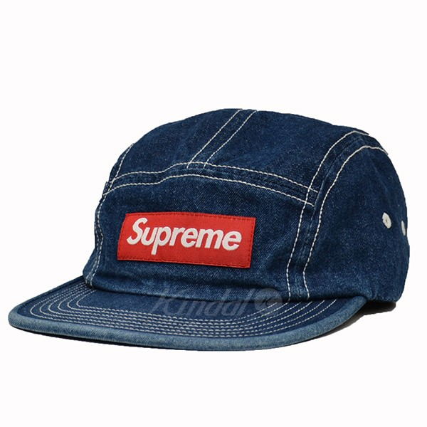 【中古】Supreme 18SS Contrast Stitch Camp Cap Box Logo デニム キャップ 【送料無料】 【001880】 【KIND1490】
