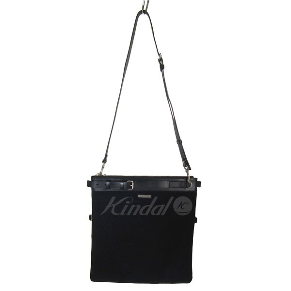 【中古】SAINT LAURENT PARIS 2018S/S ID SHOULDER POUCH レザー切替2wayショルダーバッグ 【送料無料】 【051295】 【KIND1490】