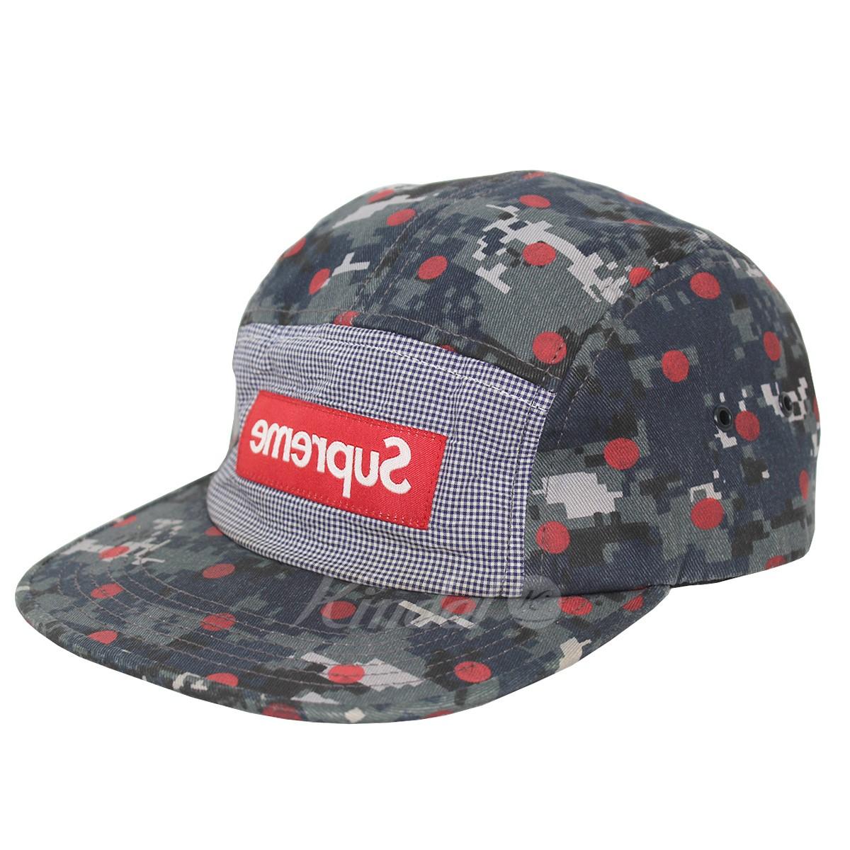 【中古】Supreme × COMME des GARCONS SHIRT 13SS Camp Cap 反転BOXロゴデジカモキャンプキャップ 【送料無料】 【002238】 【KIND1490】