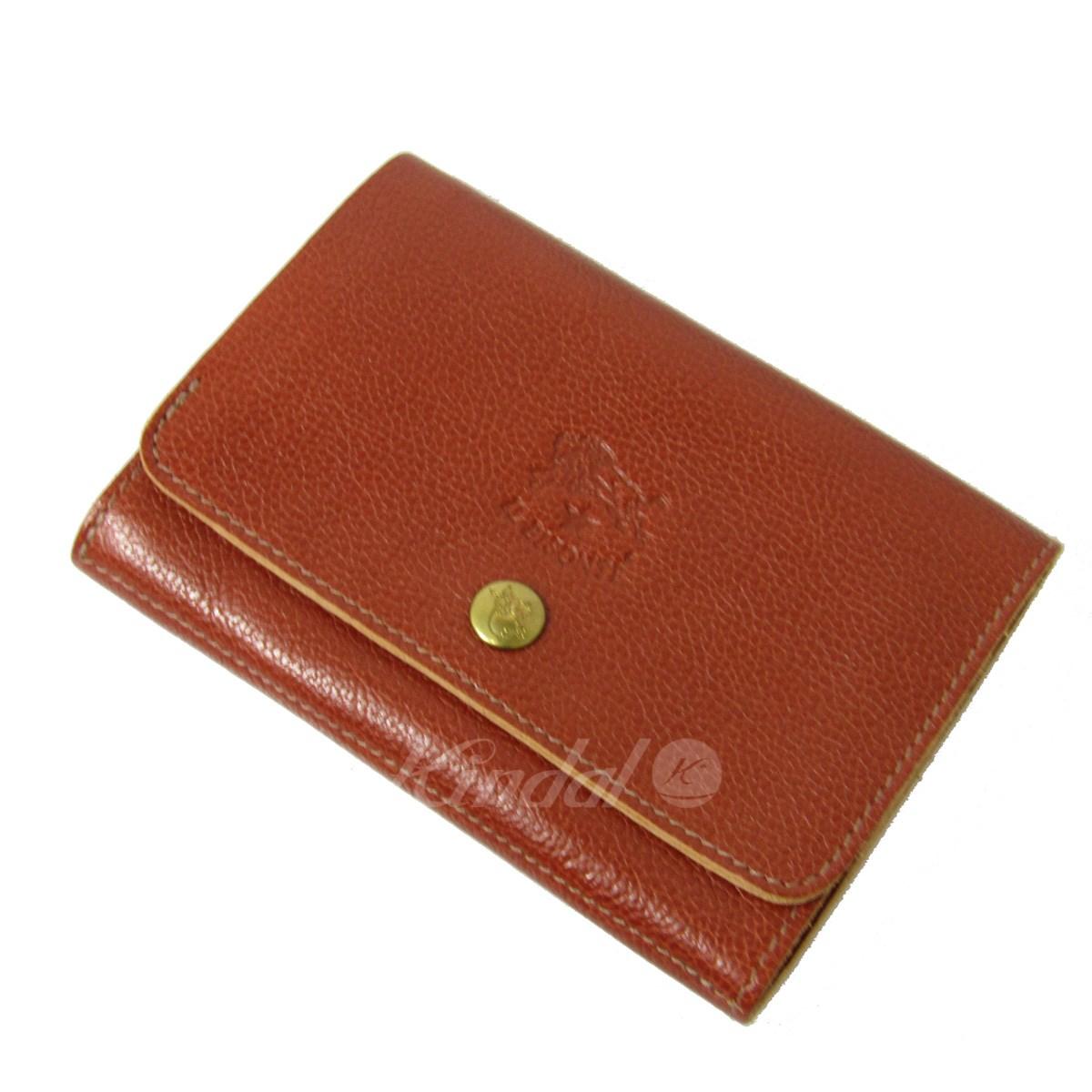 【中古】IL BISONTE 二つ折りレザー財布 C0522 【送料無料】 【022448】 【KIND1550】