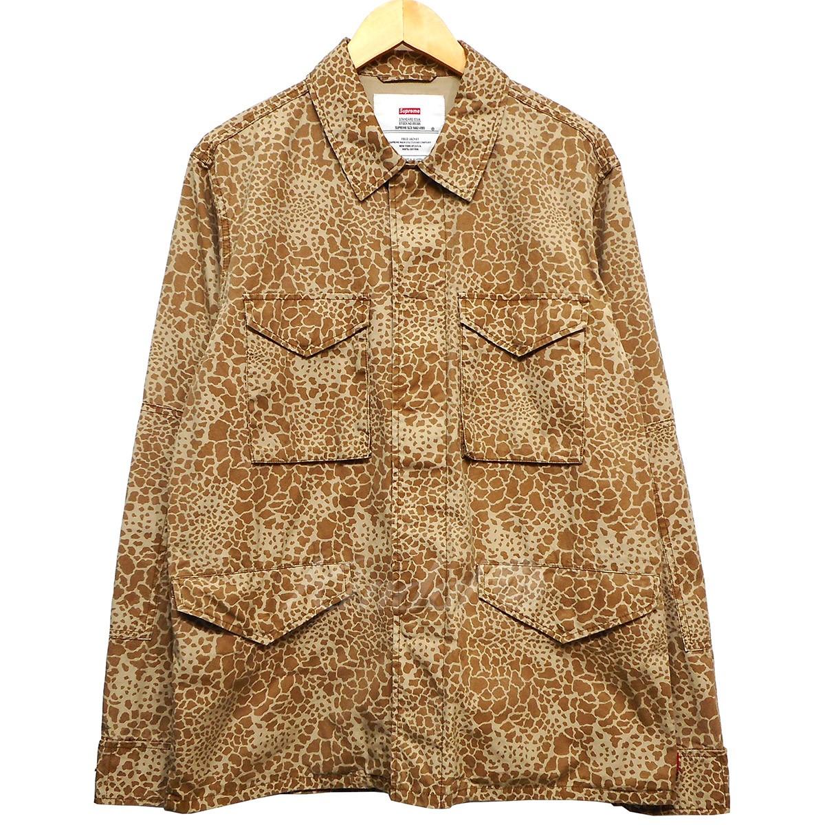 【5月9日 お値段見直しました】【中古】SUPREME12SS Field JKT CAMO giraffe pattern jacket カーキ サイズ:M