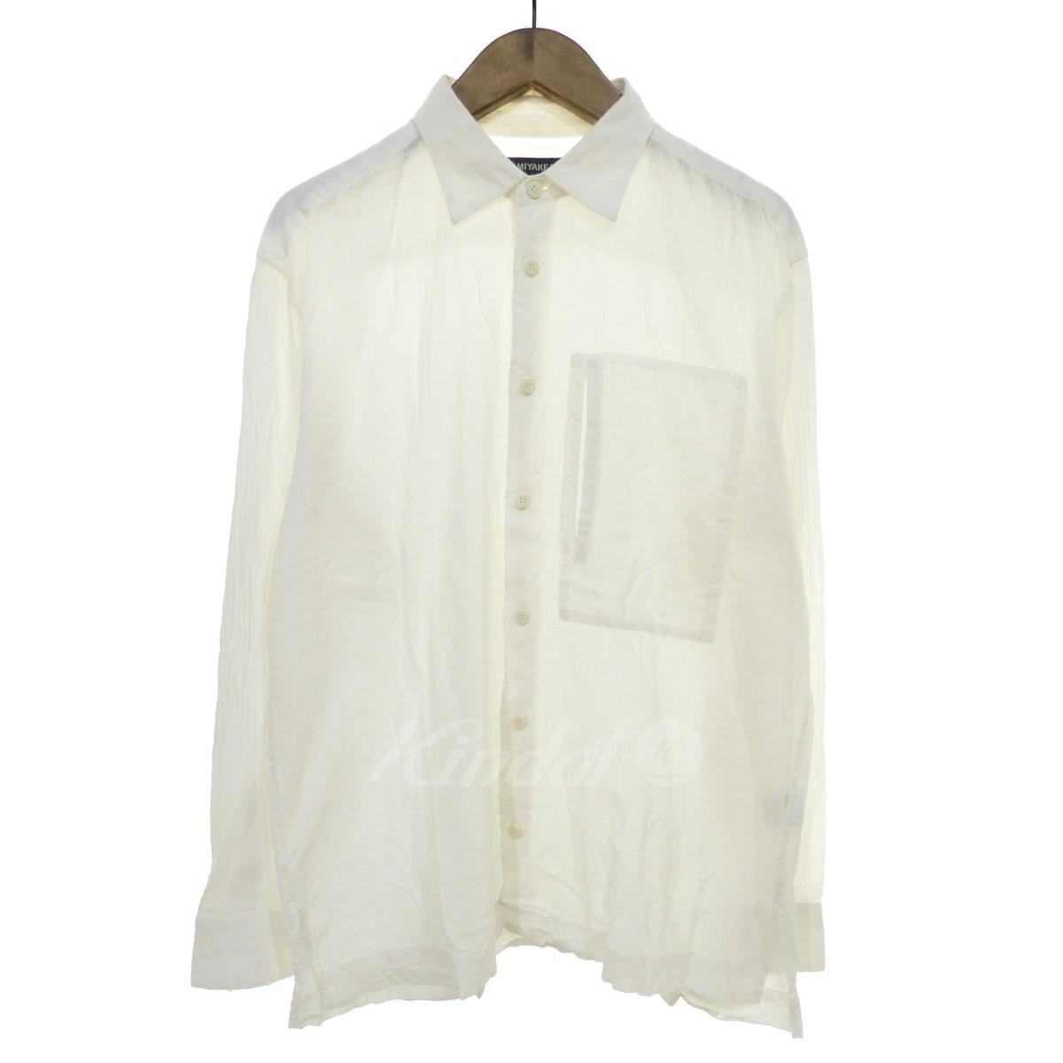【中古】ISSEY MIYAKE MEN 【2017S/S】コットンシャツ ホワイト サイズ:2 【送料無料】 【250818】(イッセイミヤケ)