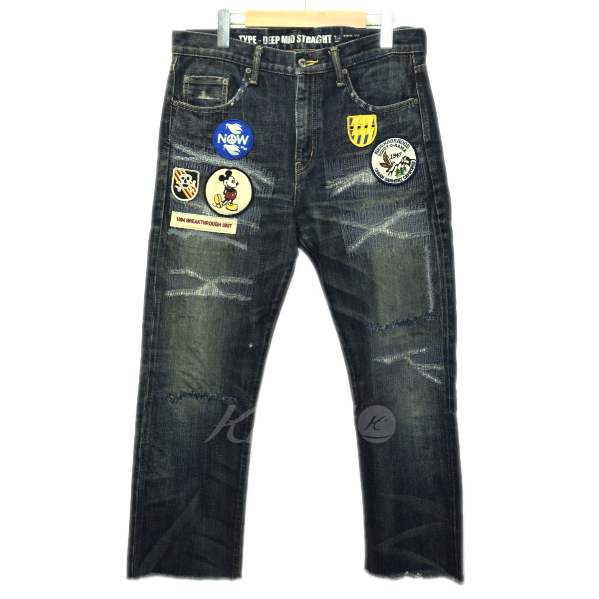 【中古】NEIGHBOR HOOD × DISNEY 2009AW BIG BAD SAVAGE DENIM 【送料無料】 【001687】 【KIND1641】
