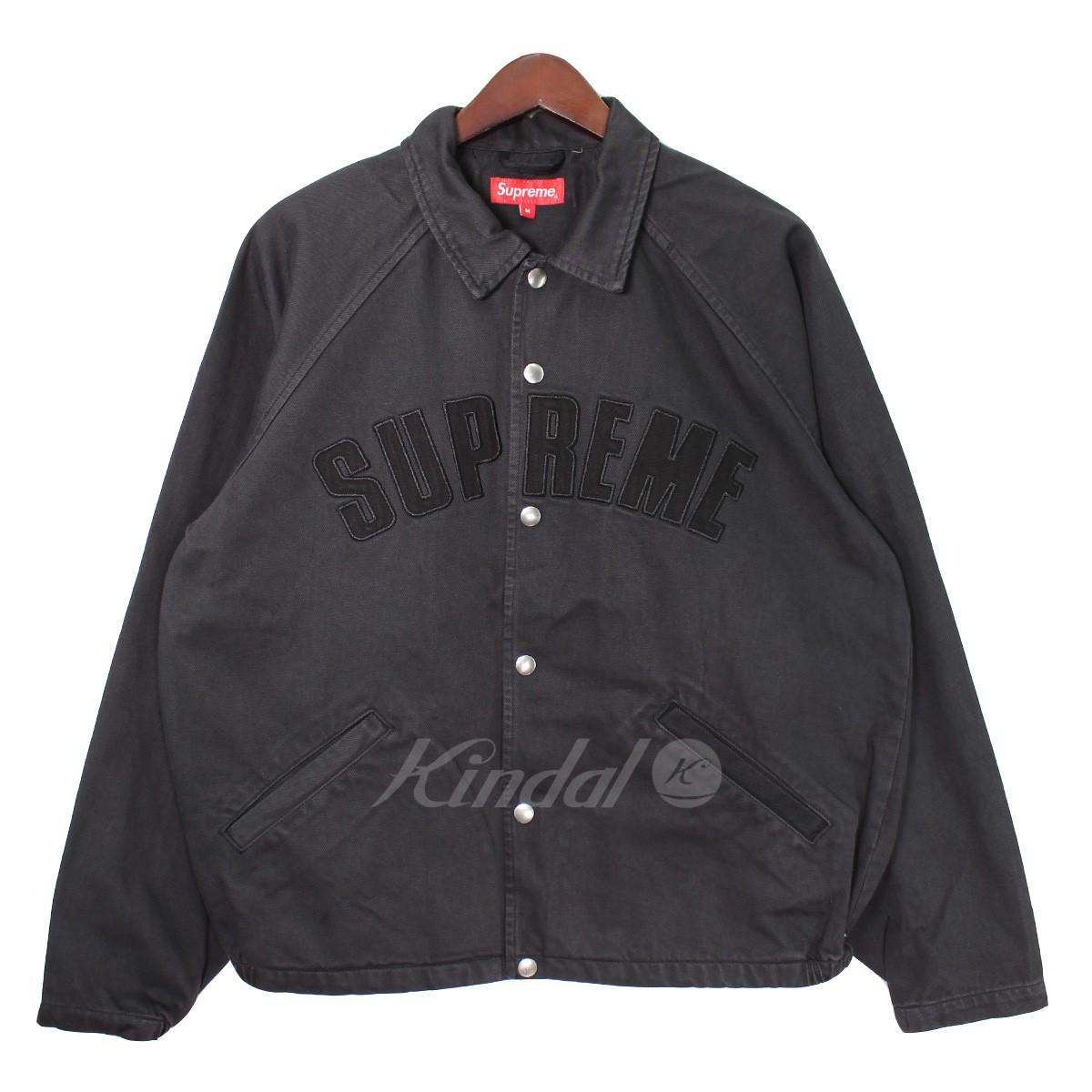 【中古】SUPREME 18AW Snap Front Twill Jacket アーチロゴスナップジャケット ブラック サイズ:M 【280818】(シュプリーム)
