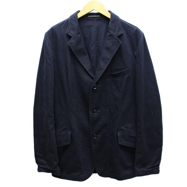 【中古】YOHJI YAMAMOTO pour homme 両サイドジップ 3Bジャケット 2016SS ダークネイビー サイズ:3(L) 【送料無料】 【280818】(ヨウジヤマモトプールオム)