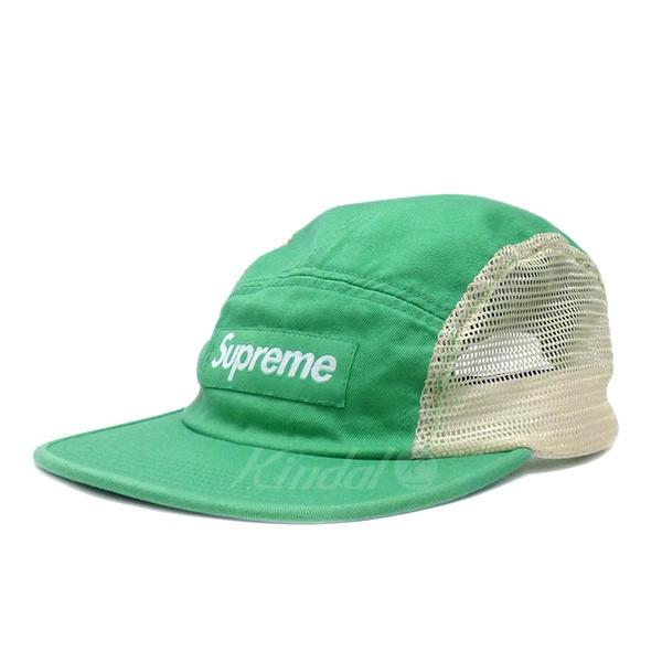【中古】SUPREME 18SS MESH SIDE PANEL CAMP CAP ツイル×メッシュ切替 キャンプキャップ グリーン×ホワイト 【送料無料】 【280818】(シュプリーム)