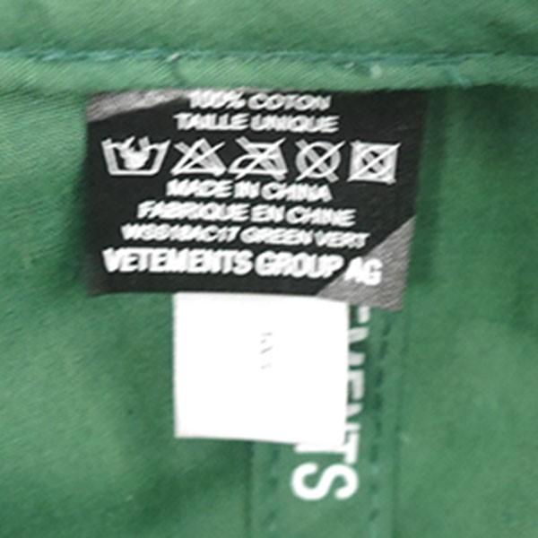 【】VETEMENTS2018SSVetementsCapロゴ刺繍キャップグリーンサイズ:-【送料無料】【280818】(ヴェトモン)