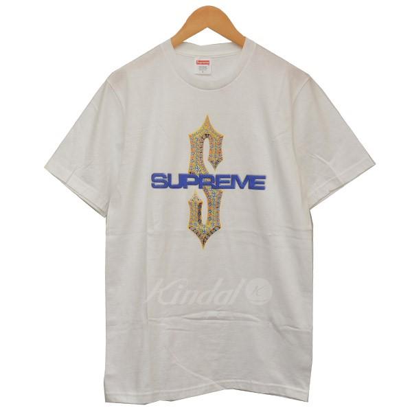 【中古】Supreme 2018SS Diamonds Tee ダイアモンド Tシャツ ホワイト サイズ:S 【送料無料】 【280818】(シュプリーム)