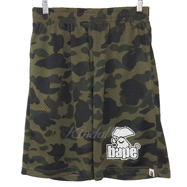 【中古】A BATHING APE 1ST CAMO MESH SHORTS 16AW メッシュショーツ 【送料無料】 【001998】 【KIND1550】