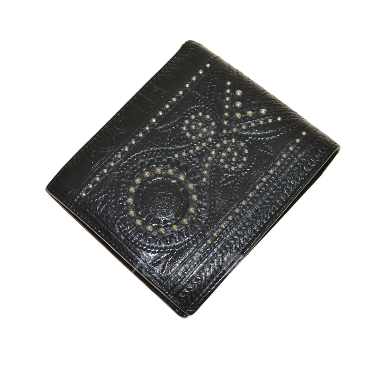 【中古】SAINT LAURENT PARIS スタッズ装飾 2つ折り財布 【送料無料】 【090292】 【KIND1550】
