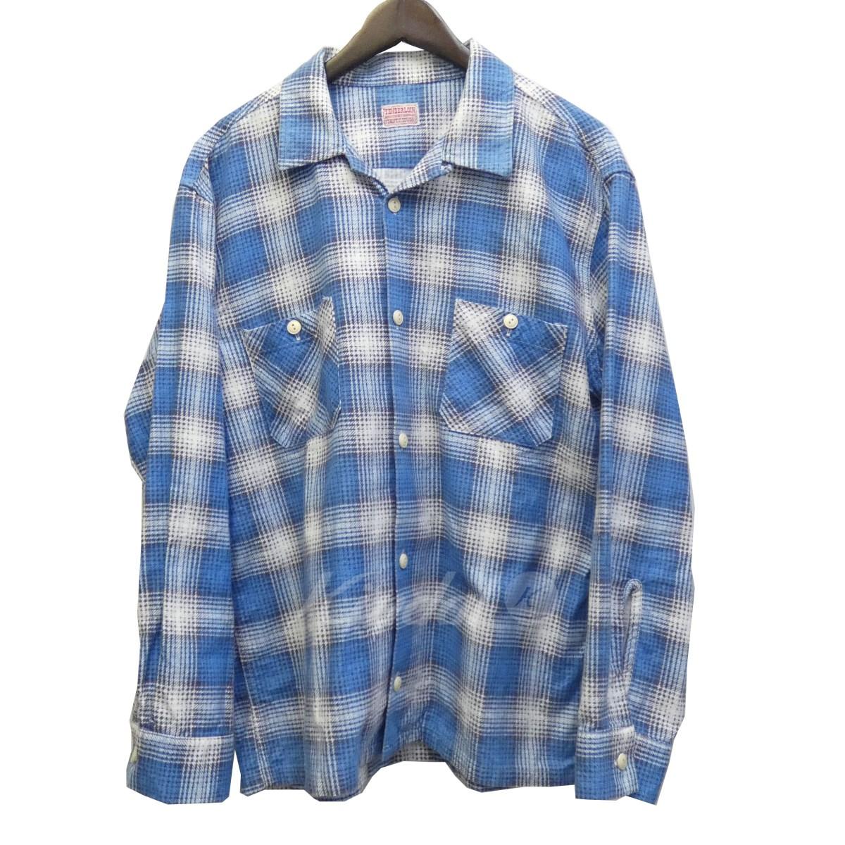 【中古】TENDERLOIN コットンチェックシャツ ブルー×ホワイト サイズ:M 【送料無料】 【310818】(テンダーロイン)