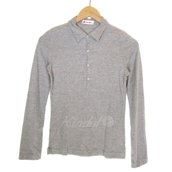 aed74e3d4 R BY 45rpm cotton Longus Reeve polo shirt light gray size: 1 (are by 45  ares P M)