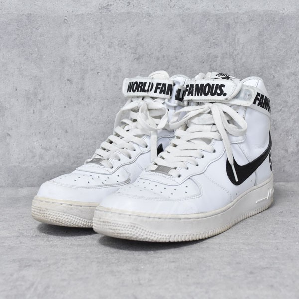 【中古】SUPREME×NIKE スニーカー AIR FORCE 1 HIGH SUPREME SP 698696-100 【送料無料】 【203633】 【KIND1550】