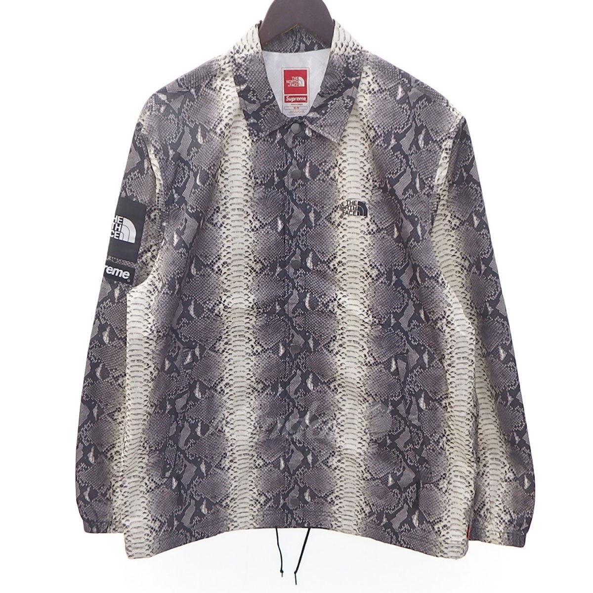 【中古】Supreme×THE NORTH FACE 18SS Snakes taped seam 総柄コーチジャケット 【送料無料】 【095457】 【KIND1550】